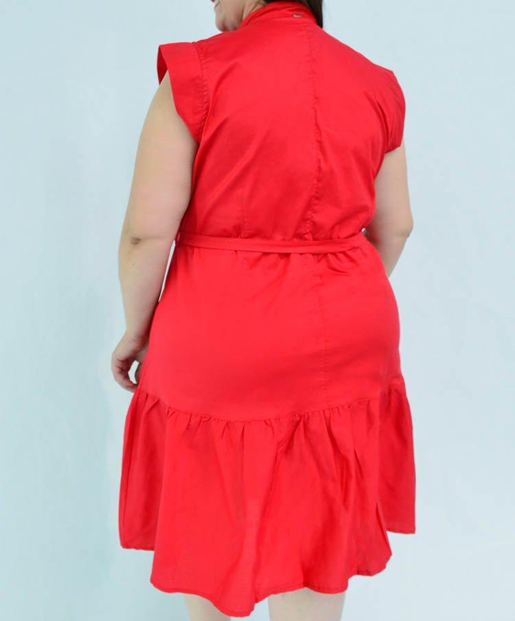 Vestido Talla Grande en Popelina con Bloques
